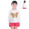 Кофту детскую белую бабочка