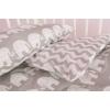Комплект постельного белья в детскую кроватку, Слоники серые