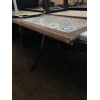 Бу стол деревянный с плиткой