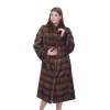 Пальто из норки, легкая трапеция
