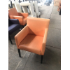 Б/у стильное оранжевое кресло для кафе, ресторанов, баров