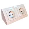 Угловой накладной блок розеток Simon CornerBox 2x220В