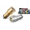 Автомобильное зарядное с 2 USB в прикуриватель (оригинал) + подарок кабель USB – micro USB.