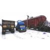 Погрузка вагонов - зерновозов (из машины в вагон) .