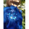Блузка хлопковая с вышивкой (синяя и черная) . Ручная работа.