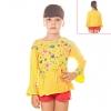 Кофту для девочки желтую с радужным принтом