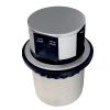 Выдвижной блок розеток ElectroHouse 3×220В + 2xUSB-зарядное