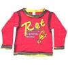 Кофту детскую красную длинный рукав
