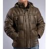 Мужскую куртку пуховую коричневую
