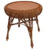 Плетеная мебель для кафе, Стол обплетенный круглый