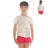 Кофту детскую белую короткие рукава
