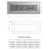 Врезной блок розеток Bachmann Power Frame 3x220