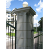 Забор. бетонные колоны для ограждения, наборные разных высот