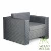 Мебель из искусственного ротанга, Кресло Хай-тек