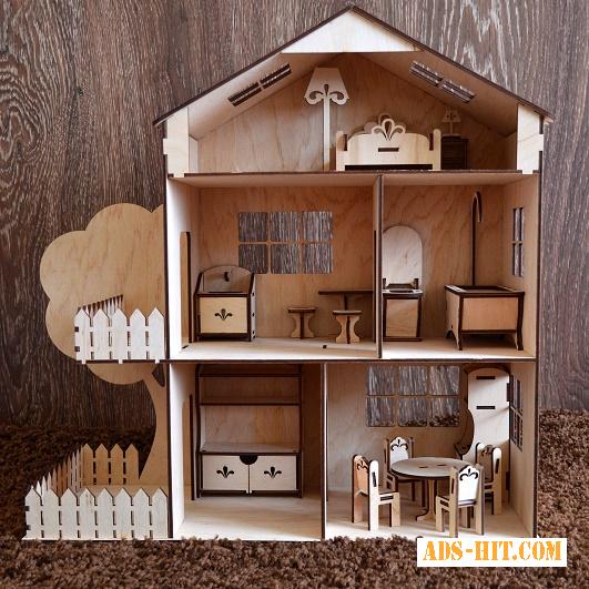 Кукольный домик, дом для кукол +МЕБЕЛЬ В ПОДАРОК Дроп Опт