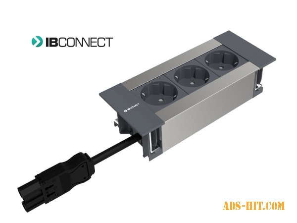 Врезной блок розеток IB Connect Intro 3х220