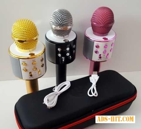 Безпроводной Bluetooth караоке микрофон WS 858