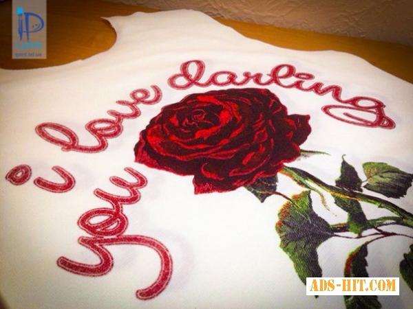Печать на ткани глиттером, блестки