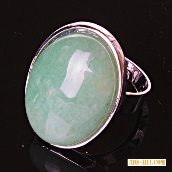 Кольцо без р-р овал Нефрит гладкая оправа