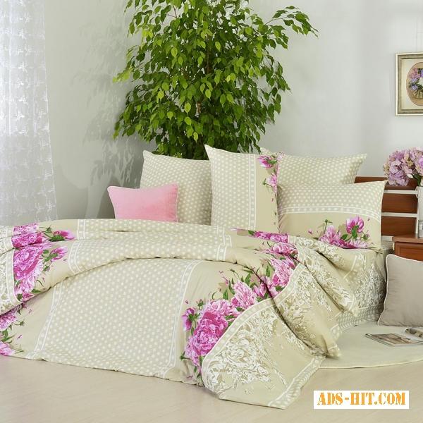 Пошив постельного белья, Комплект Пионы горошки