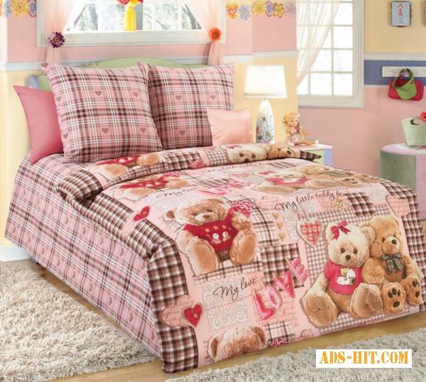 Детские постельные ткани в розницу, Бязь Плюшевые мишки