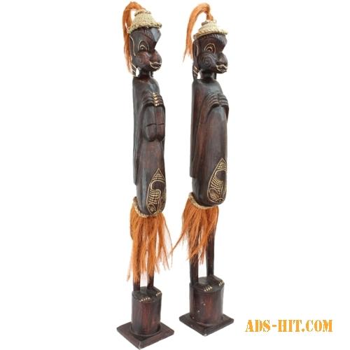 Статуэтки деревянные резные