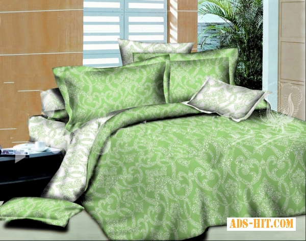 Постельное белье недорого, Комплект Ажур зеленый