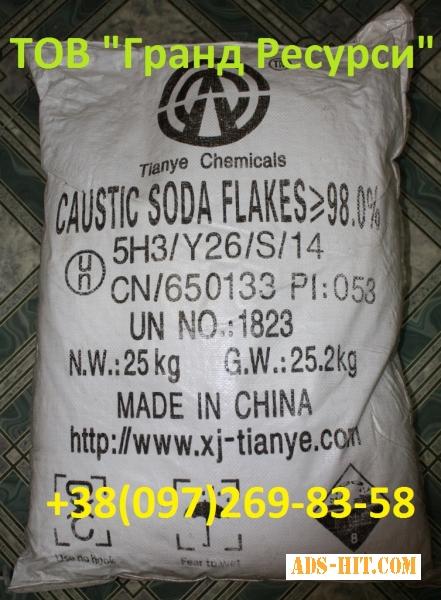 Сода каустическая (чешуя) -фасовка-25 кг.