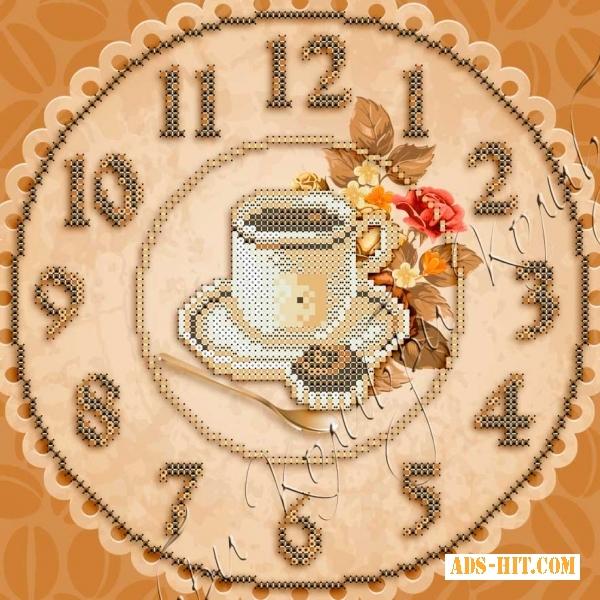 Набор часы для вышивки бисером