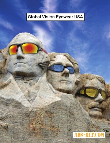 Cпортивные, солнцезащитные очки Global Vision USA.