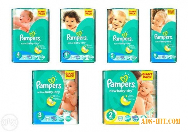 "Оптом памперсы ""Pampers Active Baby GIANT PACK"""