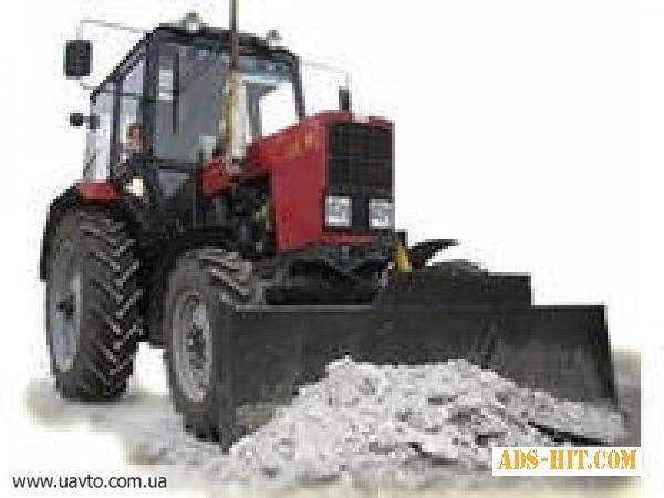 Уборка, расчистка снега трактором Днепропетровск