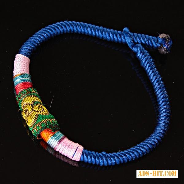 Браслет африка текстиль синий ассорти