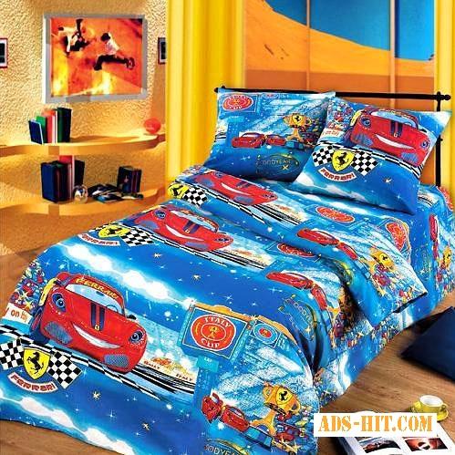 Детское постельное белье недорого, Комплект Маленький гонщик