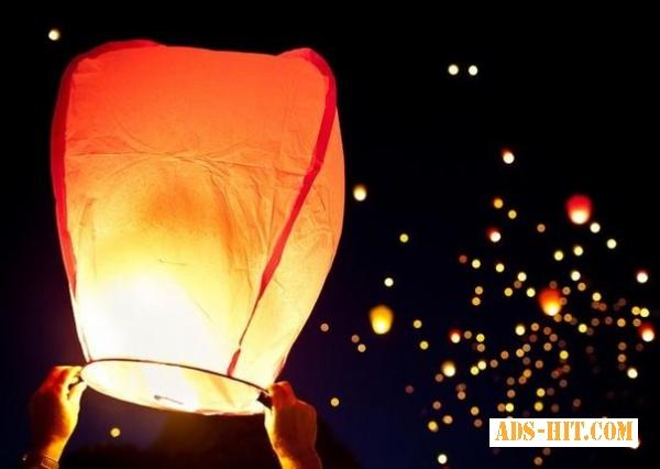 Ліхтарики на весілля,  якісні небесні ліхтарики СЕРЦЕ,  КУПОЛ