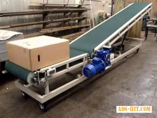 Подъёмный ленточный транспортер