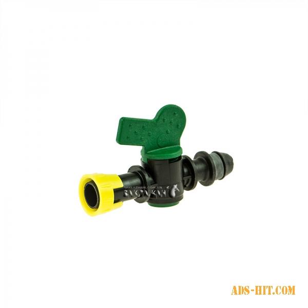 """Кран IRRITEC """"Легкий блок"""" с впаянной резинкой для капельного полива IVVDY2700N00T"""