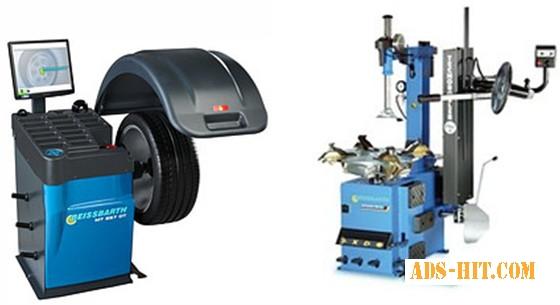 Шиномонтажный автоматический станок MS 63 и балансировочный автоматический станок MT 857 ADT для легковых авто, Германия
