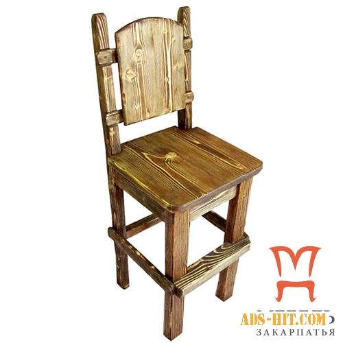Деревянные барные стулья, Стул барный под старину