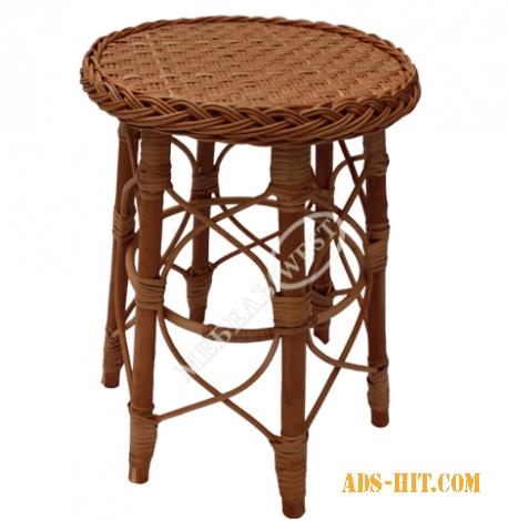 Плетеная мебель из лозы , Табурет декоративный
