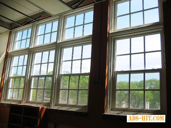 Американские окна гильятиного типа .