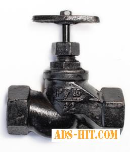 Клапаны запорные (вентили) стальные, чугунные