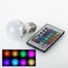 3W RGB светодиодная Лампа, разноцветная лампа LED, цоколь Е14