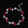 Браслет розы красные глина крупная