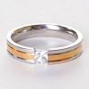 Мужское кольцо обручальное двухцветное страза