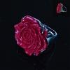 Перстень Роза полимерная глина красный