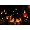 Небесные фонарики СЕРДЦЕ, КУПОЛ, повітряні ліхтарі, небесні ліхтарики, літаючі ліхтарі, китайські ліхтарі