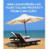Leasehold seside property real estate in Italy.