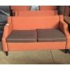 Диван б. у оранжевый, со съёмными подушками.