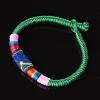 Браслет африка текстиль зеленый ассорти